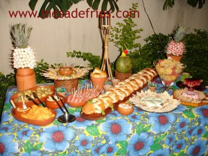 Festa tropical do Buffet Frios & Cia