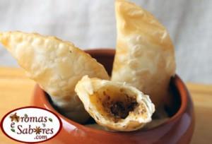 Pastel de queijo e dukkah